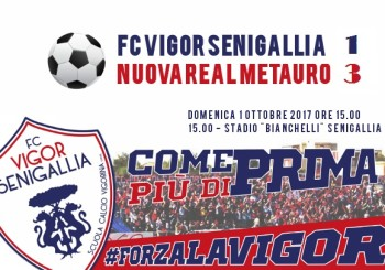 Fc Vigor kappao al debutto casalingo. Il Real Metauro vince 3-1