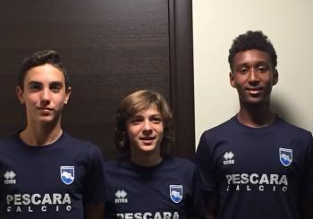 Gatti, Rossi, Veroli: tre baby biancorossoblu sbarcano al Pescara