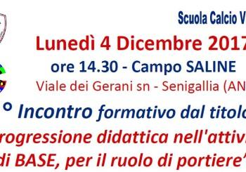 Il 4 dicembre importante incontro: Progressione didattica nell'attività di base, per il ruolo di portiere