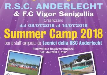 Fc Vigor Senigallia + Anderlecht = Summer Camp 2018 (8-14 luglio)
