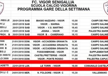 Fc Vigor Senigallia – SCUOLA CALCIO VIGORINA: programma gare
