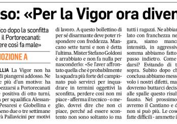 """Goldoni al Corriere Adriatico: """"Dimentichiamoci il kappao di Portorecanati, ma facciamo tesoro degli errori commessi"""""""