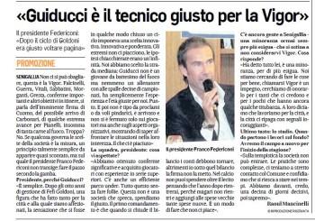 """Il presidente Federiconi al Corriere Adriatico: """"Guiducci è il tecnico giusto"""""""