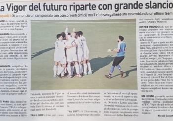 FC Vigor Senigallia, l'articolo sulla situazione biancorossoblu de Il Resto del Carlino