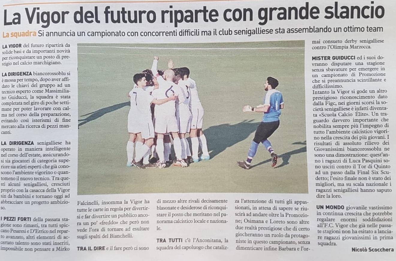 Articolo FC Vigor Senigallia
