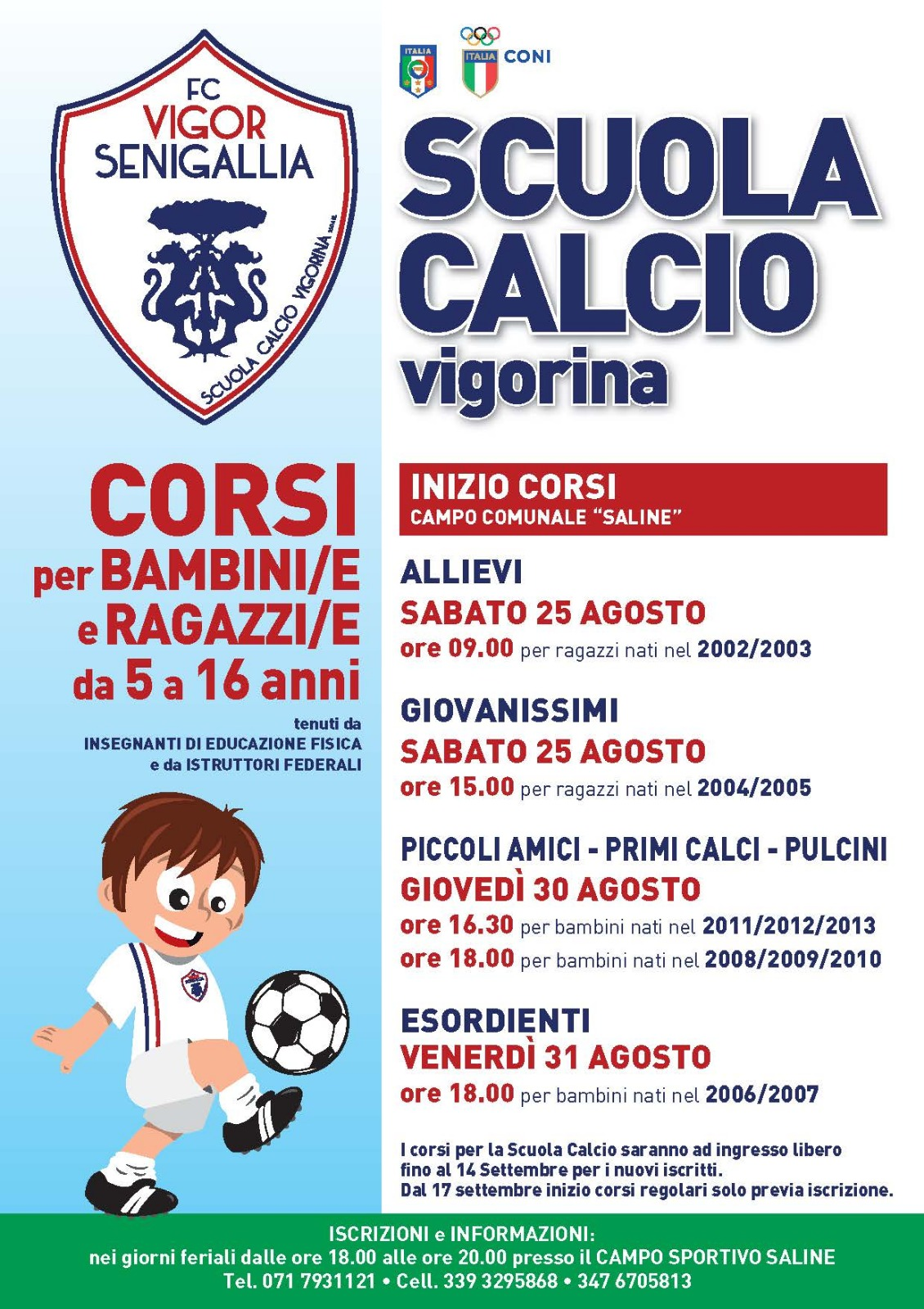 Locandina FC Vigor Senigallia - Scuola Calcio Vigorina