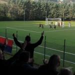 Andrea Siena esulta dopo il gol che ha regalato la vittoria alla Vigor Senigallia