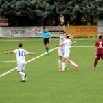 La Vigor Senigallia esulta dopo il gol di Magi Galluzzi