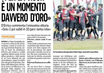Le parole di Gianfranco D'Errico al Corriere Adriatico. Ufficiale, il derby col Marzocca si gioca sabato ore 14.30 a Montemarciano
