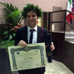 La laurea di Luca Morganti