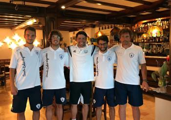 Che onore: il tecnico dell'Anderlecht Sergio Figueira ringrazia la Vigor per lo splendido Camp!