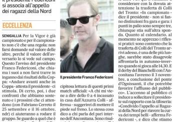 """Federiconi al Corriere Adriatico: """"Lavoriamo per ridare alla Vigor il tifo di una volta"""""""