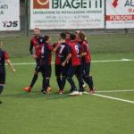 Esultanza Vigor dopo il gol di Pesaresi