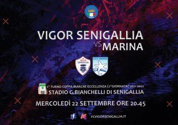 Debutto in Coppa Marche: stasera il Marina arriva al Bianchelli (ore 20.45)
